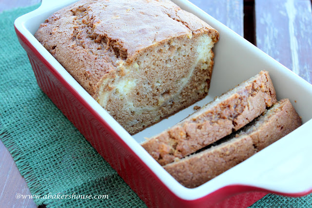 Apple cream cheese quickbread