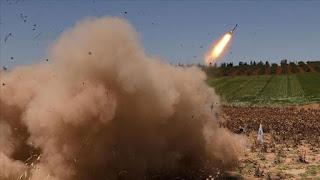 """""""ي ب ك"""" الإرهابي يستهدف عفرين بصاروخ غراد شمالي سوريا"""