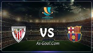 نتيجة مباراة برشلونة وأتلتيك بلباو في نهائي السوبر الإسباني