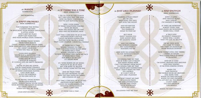 HAREM SCAREM - Mood Swings II (2013) inside booklet