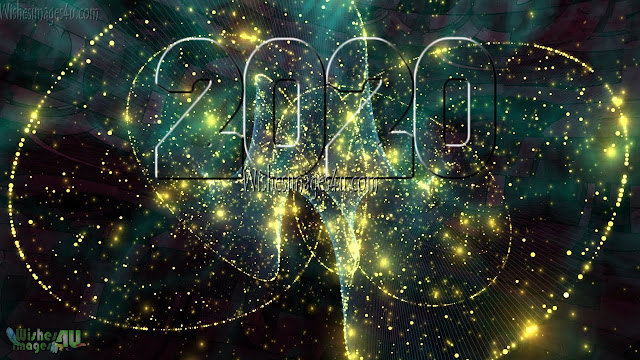 Happy New Year 2020 Full HD Pictures With Sparkling Background Download For Desktop