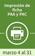 Programas educativos salud Impresión de ficha PAA y PAC
