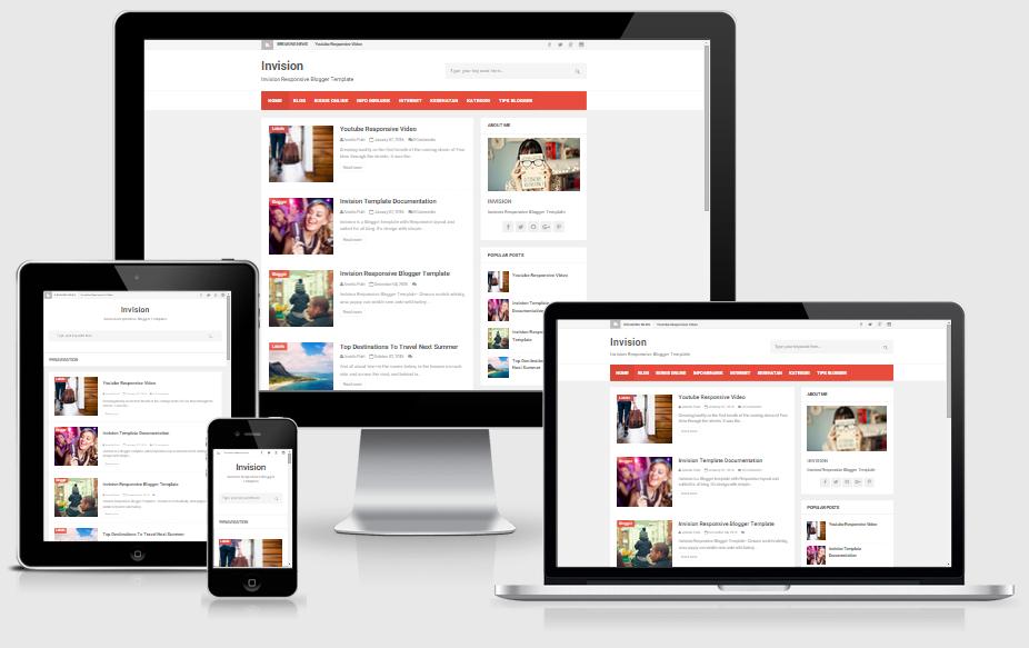 Download Template Invision Blogger Niche Berita dari Arlina Desain