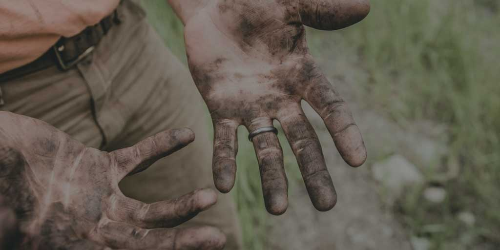Getting your hands dirty working hard