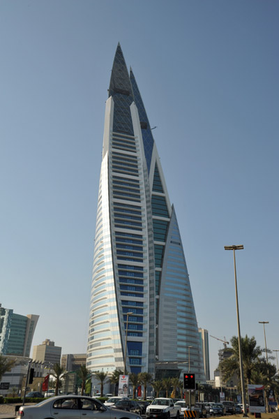 El Bahrain World Trade Center como de ciencia Ficción.