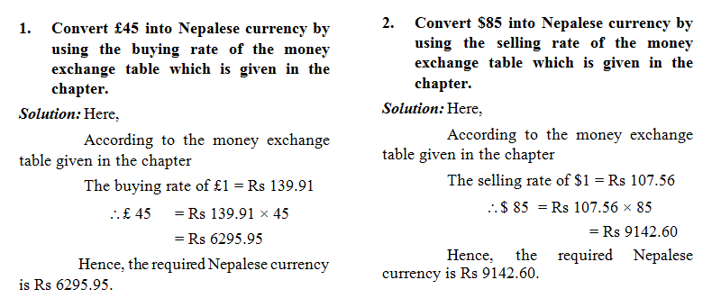 Solved Questions For Money Exchange