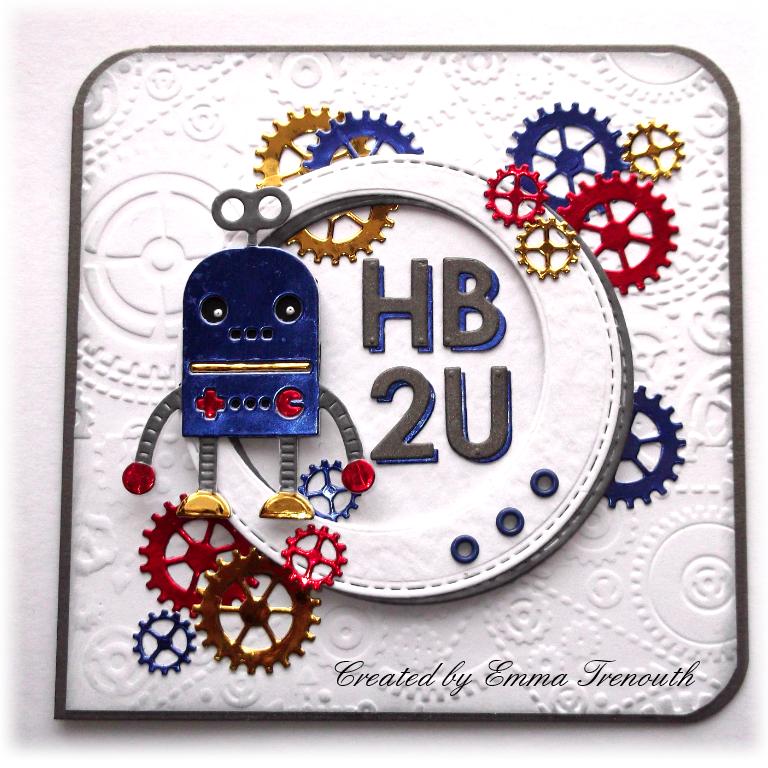 Birthday Cards For Teenage Guys ~ Trenouth s crafty creations hb u robot boys birthday card