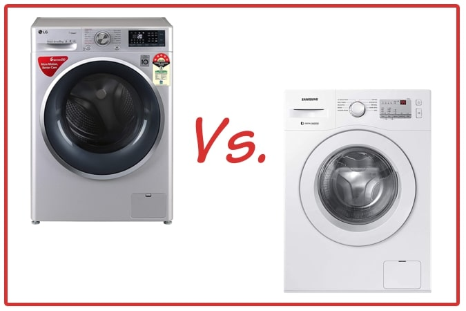 LG FHT1408ZWL (left) and Samsung WW60R20GLMA/TL (right) Washing Machines.