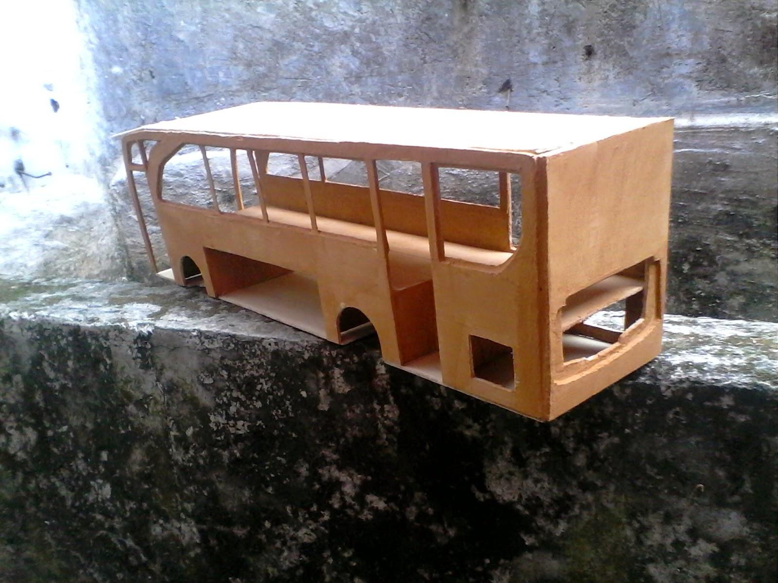 cara membuat miniatur bus - SMPN 12 kota tangerang