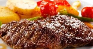 ستيك اللحم بصوص الثوم