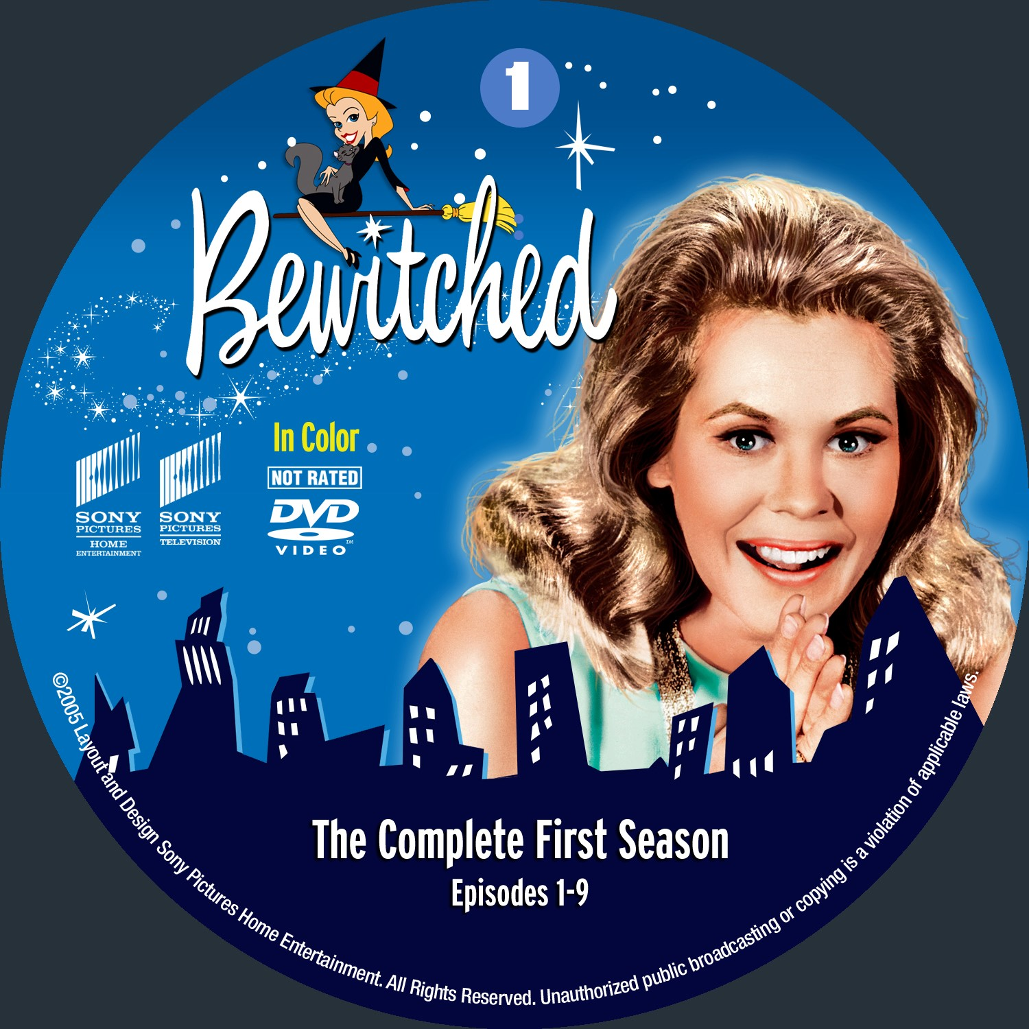 Bewitched Season 1 Disc 1-4 DVD Label