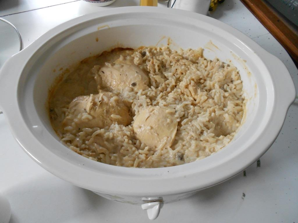 Crock Pot Chicken-Rice Dinner