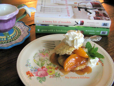 Spicy Peach Shortcake at Miz Helen's Country Cottage.com