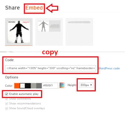 cara memasang lagu otomatis putar blog