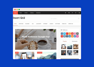 Invert Grid Blogger Template Free Download |