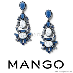 Queen Letizia style MANGO Faceted Crystal Earring