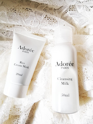 Review Adorée Paris Skincare : Cleansing Milk & Rice Cream Mask