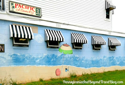 Pacific Laundry Beach Life Wall Mural in Wildwood New Jersey