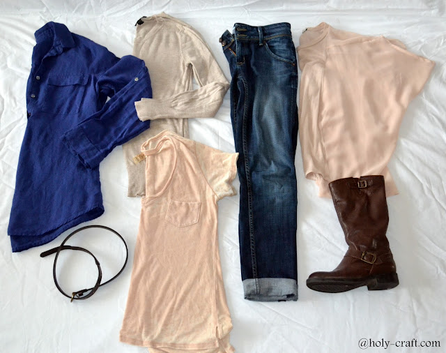 neutral clothing in my closet that can be worn with skinny jeans and boots