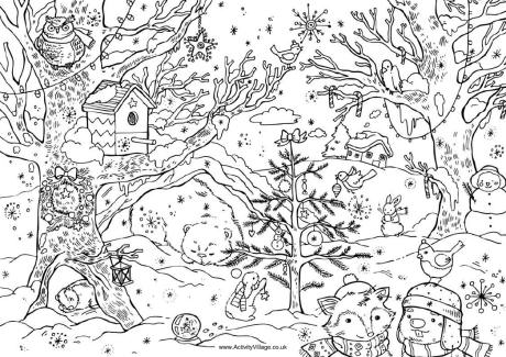 Serendipity Adult Coloring pages Seasonal WinterChristmas
