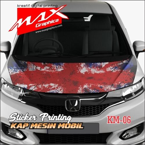 sticker kap mesin mobil bendera inggris