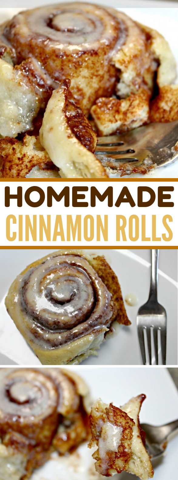 Homemade Cinnamon Rolls {Soft & Delicious!} #desserts #breakfast