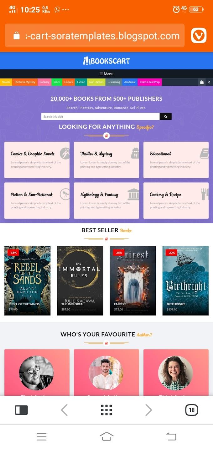 Punya Toko Buku Online? Pakai Template Ini Saja!