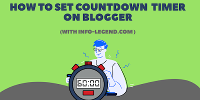 How to set countdown timer on Blogger | WordPress.
