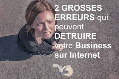 erreur business internet, réussir en ligne