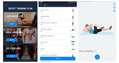 Aplikasi untuk melatih otot abs agar sic pack