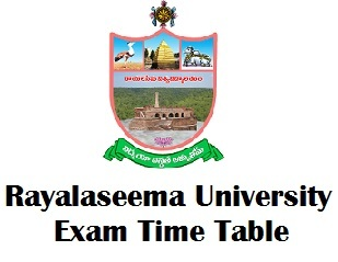 Rayalaseema University Kurnool Time Table 2017