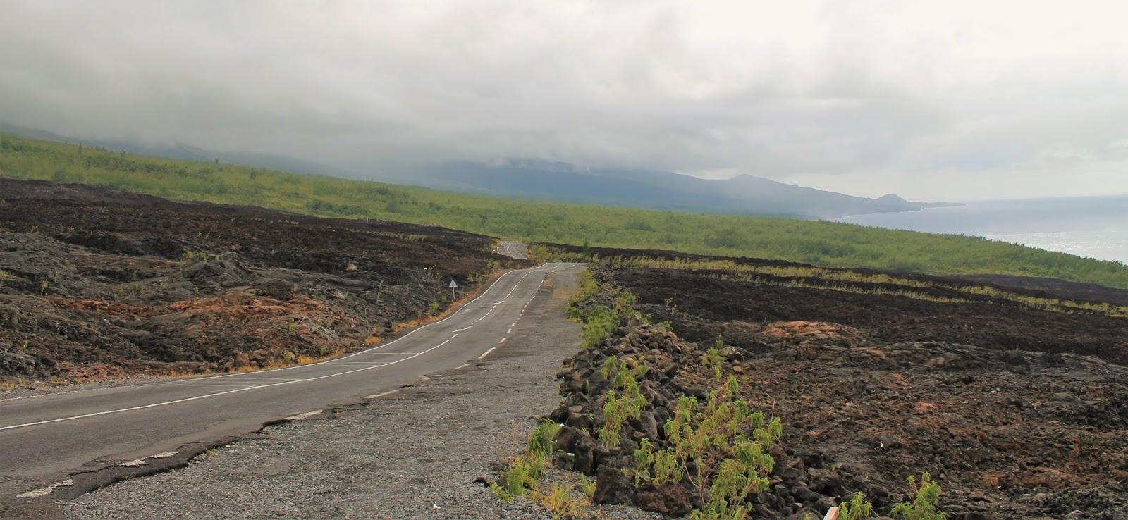 ile de la réunion route des laves volcan