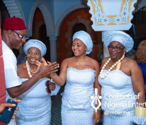 Breaking: Regina Daniels inducted into 'married women group' with traditional ritual rites in Anioma as wife of Ned Nwoko (See Photos)
