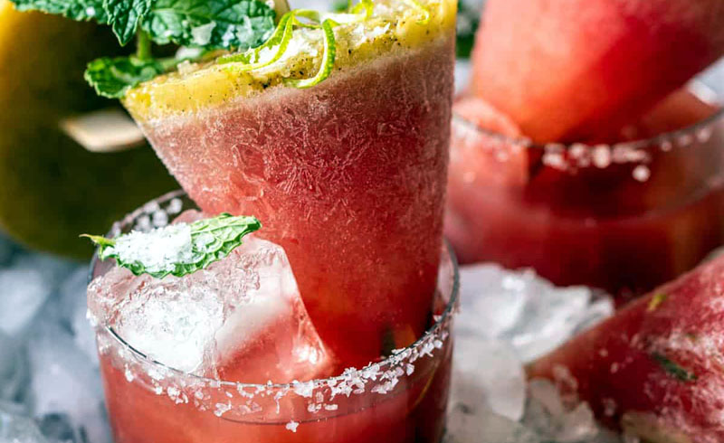 Salted Spicy Watermelon Margarita Popsicles