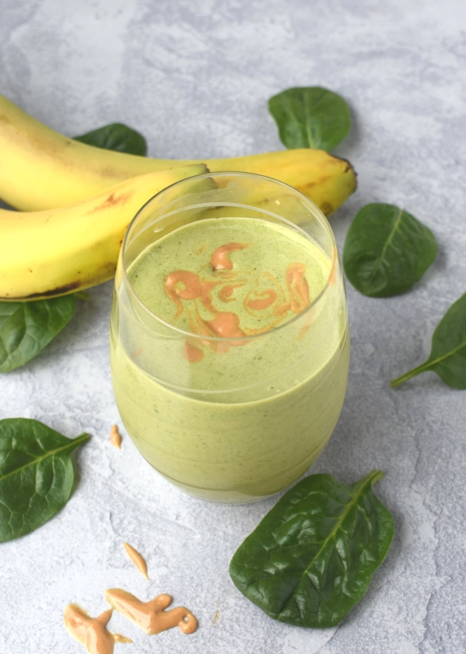 Peanut Butter Banana Green Smoothie