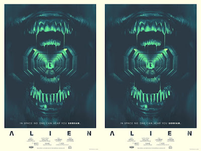 Alien Screen Print by Matt Griffin x Bottleneck Gallery