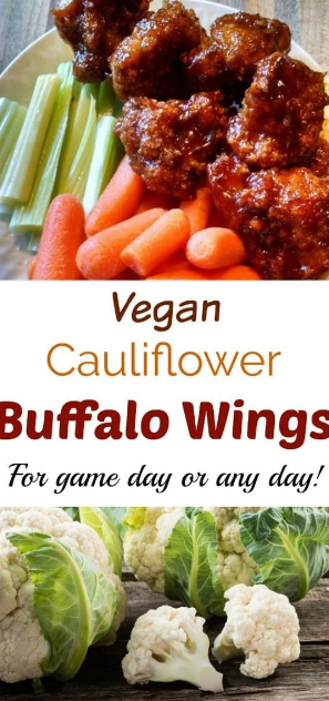 Vegan Cauliflower Buffalo Wings