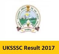 UKSSSC Result 2017