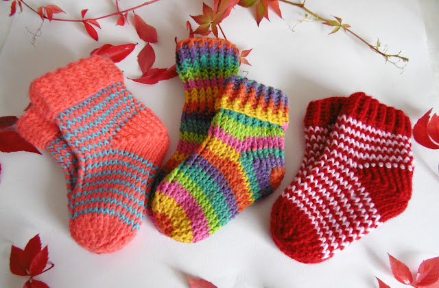 #handmade #crochet #socks #slippers #baby #colorful #striped