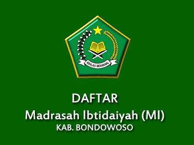 Daftar MI di Kabupaten Bondowoso