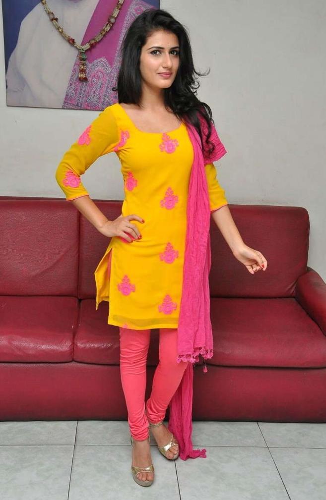 Beautiful Telugu Girl Sana Long Hair Yellow Dress Photos