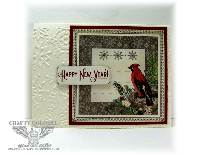 CraftyColonel Donna Nuce for Cards in Envy Challenge blog, Graphic 45 Time to Flourish.