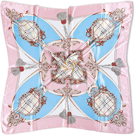 Baby Pink Silky Satin Scarves