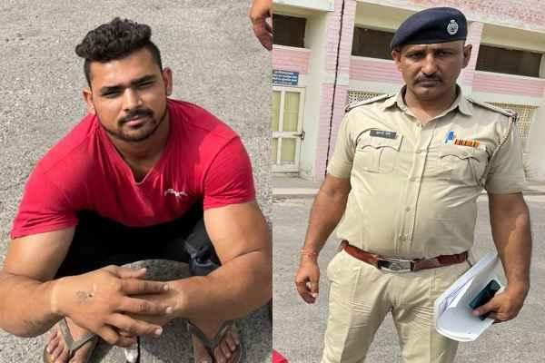 crime-branch-sector-85-faridabad-arrested-deepu-with-gun