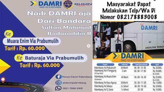 Damri Bandara Palembang, Ini Jadwal & Harga Tiket Terbaru
