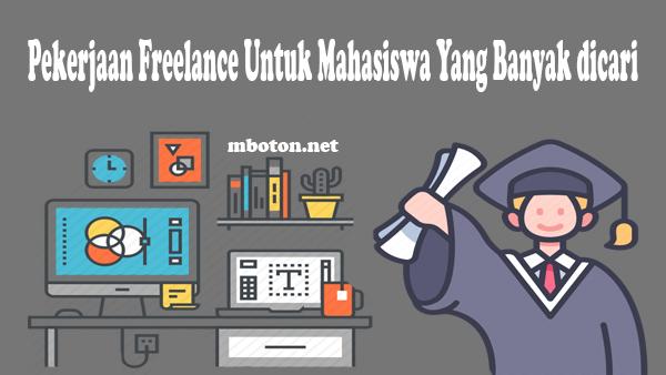 10 Pekerjaan Freelance Untuk Mahasiswa Yang Banyak dicari di tahun 2021