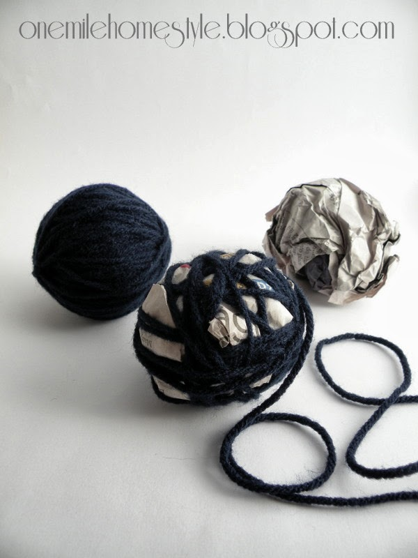 Making Yarn Ball Vase Filler