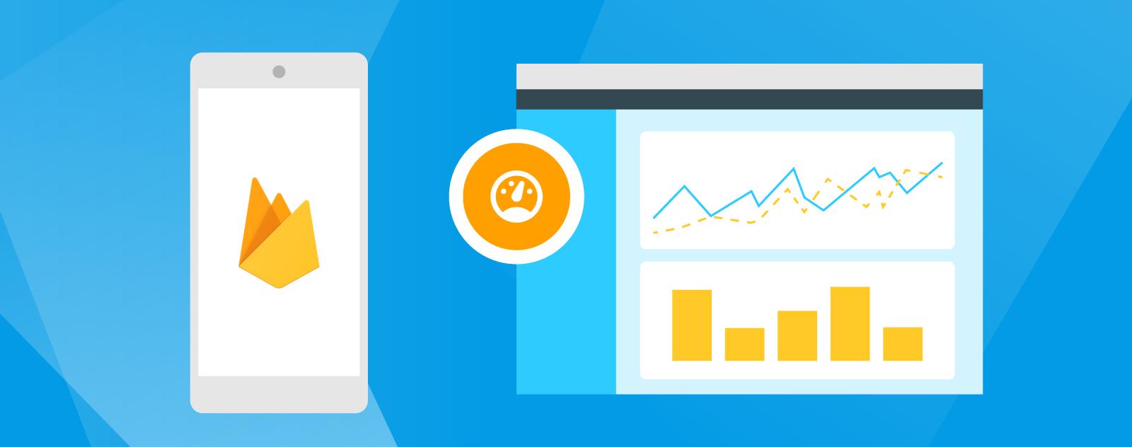 Cabeçalho do Monitoramento de desempenho do Firebase