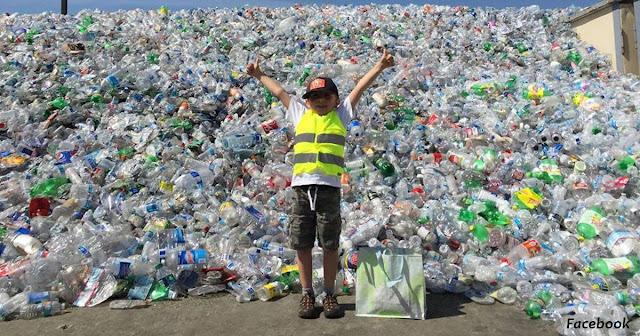″Животные должны жить″: 9-летний мальчик собрал 500 000 бутылок, чтобы спасти планету