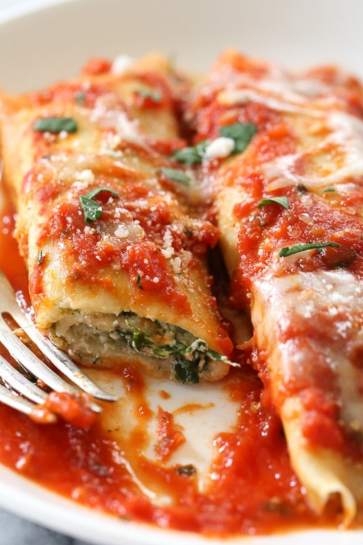 Homemade Spinach Manicotti Recipe